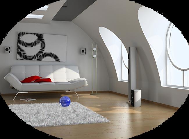maison-moderne chambre dans Tube interieur Maison